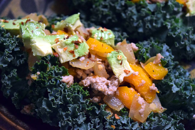 Spicy Turkey Kale Cups