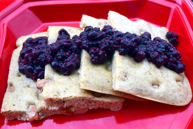 Fast Baked Pancakes with Easy Blueberry Topping