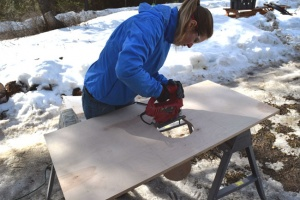 Building an Owl Box for nesting owls in North Idaho.