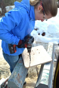 building owl box floor