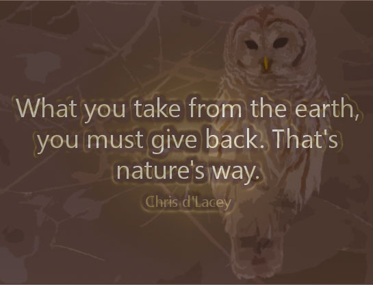 Barred owl conservation quote